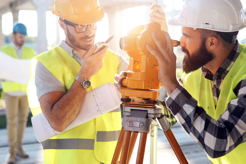 architects working at construction site
