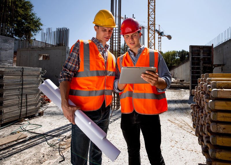 architects at construction site